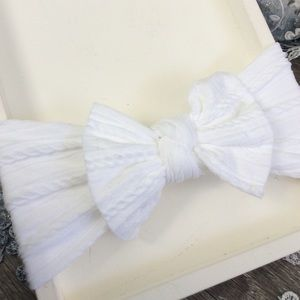 Other - Boutique Baby Girls Cable Knit White Headband